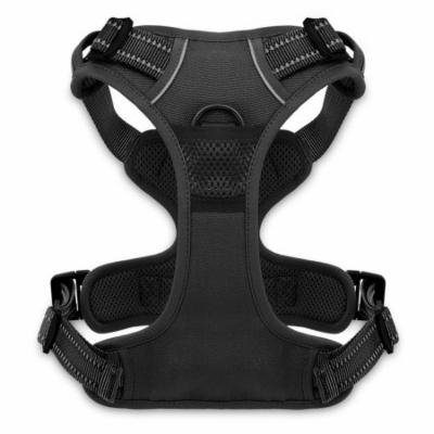 Voyager by Best Pet Supplies - No Pull Front Range Adjustable Harness with 3M Reflective Technology (Black, Large)