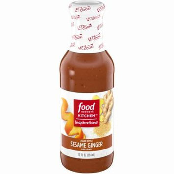 Food Network Kitchen Inspirations Asian Style Seseme Ginger Vinaigrette Bottle, 12 oz
