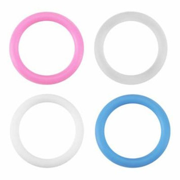 Keenso 20pcs Silicone Safe O-Rings Dummy Pacifier Chain Clips Adapter Holder for Baby ,Silicone O-rings Baby Pacifier Clips, Pacifier Chain Holder
