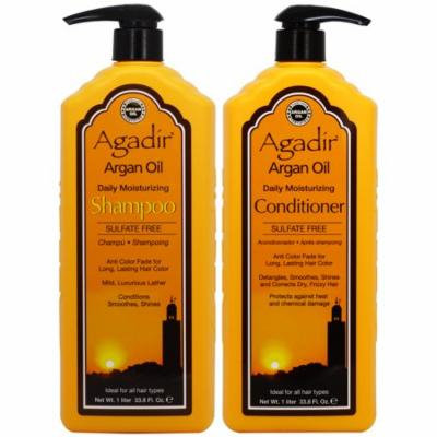 Agadir Argan Oil Daily Moisturizing Shampoo & Conditioner 33.8oz Duo