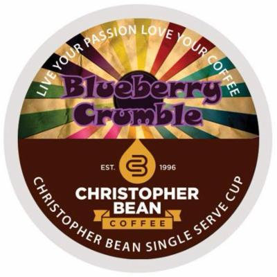 Bluberry Crumble Single Cup Coffee Christopher Bean Coffee K Cup, For Keurig Brewers ( 12 Count Box)