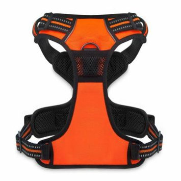Voyager by Best Pet Supplies - No Pull Front Range Adjustable Harness with 3M Reflective Technology (Orange, X-Large)