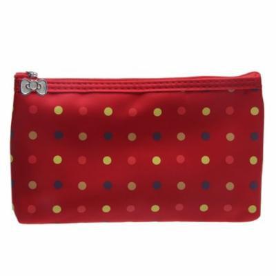 Mosunx 1PC Round Dot Portable Storage Makeup Bag Red