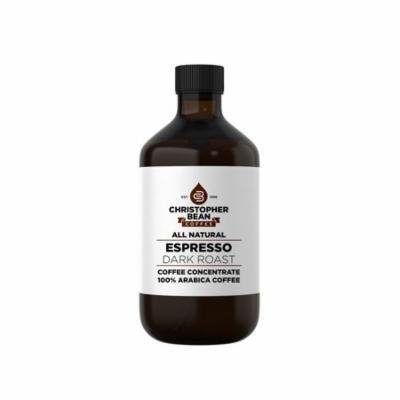 Espresso Dark Roast Cold Brew Iced Coffee Hot Coffee Liquid Java Concentrate ( 8 Ounce Bottle) Makes 24-31 Cups