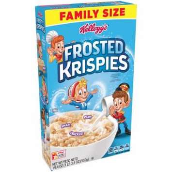 Kellogg's Frosted Rice Krispies Family Size Breakfast Cereal 22.2 Oz