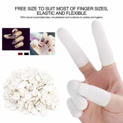 300pcs Natural Latex Finger Cots Ultra-thin Safety Durable Elastic Tattoo Manicure Tool, Latex Finger Cots, Tattoo Finger Cots