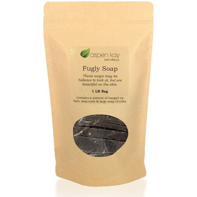 Aloe & Calendula Soap, 1 Pound Bag of Fugly Soap, a Mixture of Banged Up Bars, Soap Ends & Soap Chunks. 100% Natural & Organic Soap.