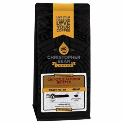 Chipotle Almond Brittle Flavored Whole Bean Coffee, 12 Ounce Bag