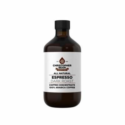 Espresso Dark Roast Cold Brew Iced Coffee Hot Coffee Liquid Java Concentrate ( 4 Ounce Bottle) Makes 12-16 Cups