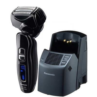 Panasonic ES-LA93-K, Arc4 Electric Razor, Men's 4-Blade with Multi-Flex Pivoting Head and Dual Motor, Premium Automatic Clean & Charge Station Included, Wet or Dry Operation [4-Blade Electric Shaver with High Power Linear Motor & Dual Cutting System and Premium Automatic Cleaning & Charge Station]