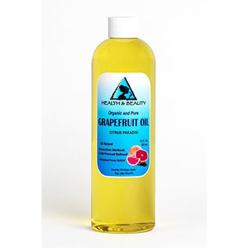 Grapefruit Seed Oil Refined Organic Carrier Cold Pressed Natural Fresh 100% Pure 12 oz