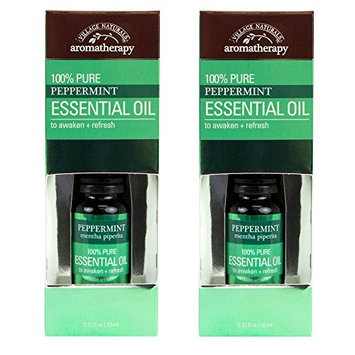 Village Naturals Aromatherapy, Essential Oil, Pure Peppermint Essential Oil, Pack of 2