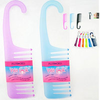 Plugged 2 Shower Combs Hair Wide Tooth Dry Wet Gently Detangles Thick Long Durable Salon