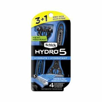 Schick Hydro 5 Men's Disposable Razor 3+1 Bonus
