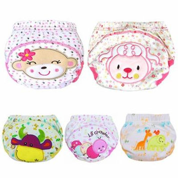 Girl12Queen Cute Baby Cotton Training Pants Reusable Cloth Washable Infant Nappies Diaper