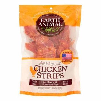 Earth Animal All-Natural Plain Chicken Strips Dog Treats, 8 Oz