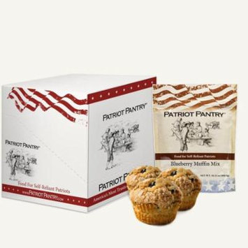Patriot Pantry Blueberry Muffin Mix Case Pack (72 servings 6 pk.) Emergency Food