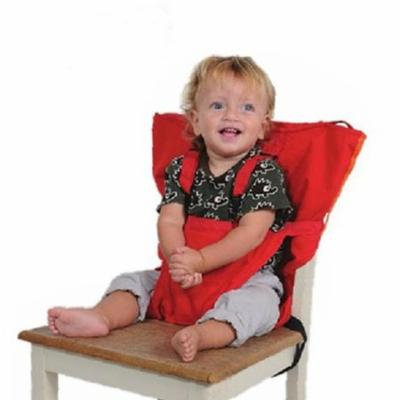 Baby Portable Seat Kids Feeding Chair for Child Infant Safety Belt booster Seat Feeding High Chair Harness Carrier (Red)