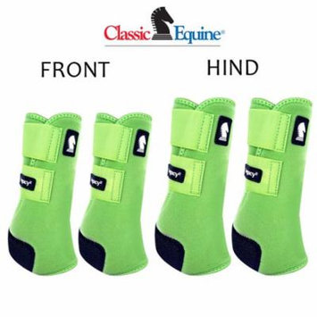 SMALL CLASSIC EQUINE LEGACY2 HORSE FRONT HIND SPORTS BOOTS 4 PACK LIME GREEN