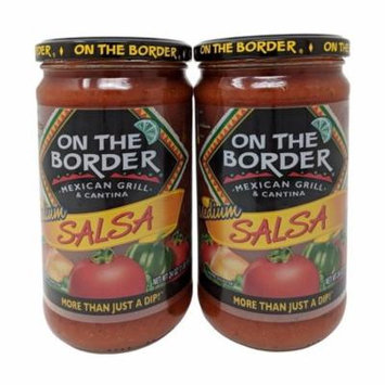 On The Border Mexican Grill & Cantina Medium Salsa 24 OZ Each 2 Pack