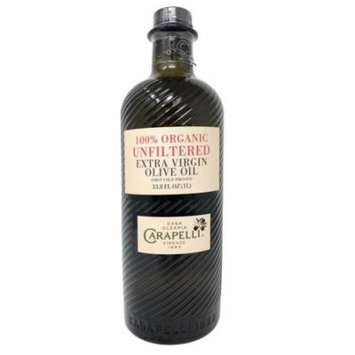 Carapelli 100% Organic Unfiltered Extra Virgin Olive Oil from Italy 33.8 FL OZ