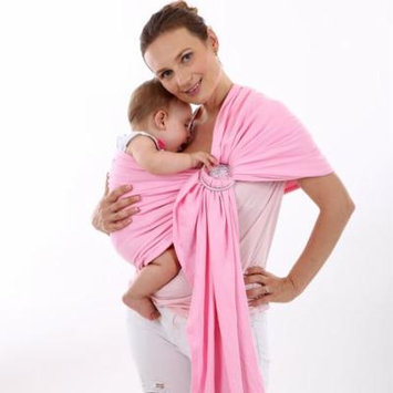 Multi-Functional Baby Waist Stool Breathable Baby Carrier Sling With Hoop (Pink)
