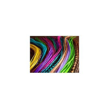 Feather Hair Extension 25 Loose Feathers for Hair Extensions Choose Your From Menu