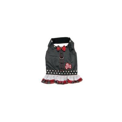 Biker Dress Dog Harness by Doggles - Red Plaid Teacup
