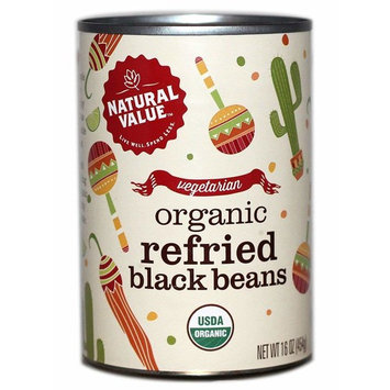Natural Value 16 oz. Organic REFRIED Black Beans / 12-ct case