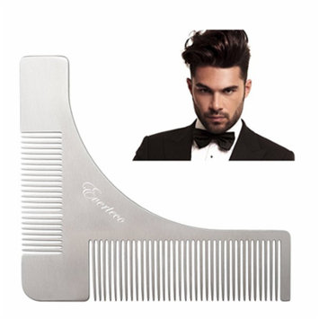 eard Shaping Tool with Comb Stainless steel Beard Styling & Shaper Template Grooming Kit Guide for Men,Facial Hair Trimmer for Jaw Line, Cheek, Neck & Goatee - Makes Perfect Razor Trimming Line