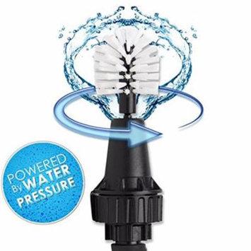 Wheel Brush, Premium Water-Powered Turbine for Rims, Engines, Bikes, Equipment, Furniture and More (White/Black)