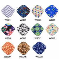 Yosoo 11 Patterns Heavy Reusable Washable Panty Liner Bamboo Cloth Mama Menstrual Sanitary Pad Hot , Panty Liner, Cloth Menstrual Pads