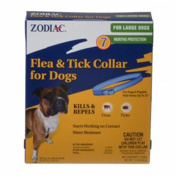Zodiac Flea & Tick Collar for Large Dogs 1 Collar - (7 Month Protection) - Pack of 6