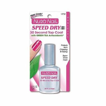 Nutra Nail Speed Dry 30 Second Top Coat with Green Tea Antioxidants + FREE Eyebrow Trimmer