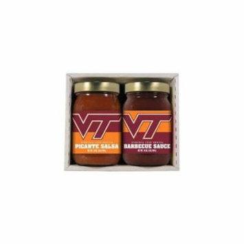 Virginia Tech Hokies NCAA Double Play (16oz BBQ Sauce, 16oz Picante Salsa)