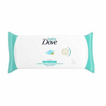 Dove Baby Wipes, Fragrance Free, Sensitive Moisture, As Gentle As Water, Suitable for Newborns, 50 Ct + FREE Eyebrow Trimmer