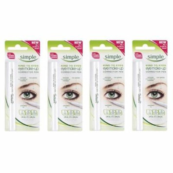 Simple Kind To Eyes Eye Make-up Corrector Pen, Fixes Makeup Mistakes (Pack of 4) + FREE Eyebrow Trimmer