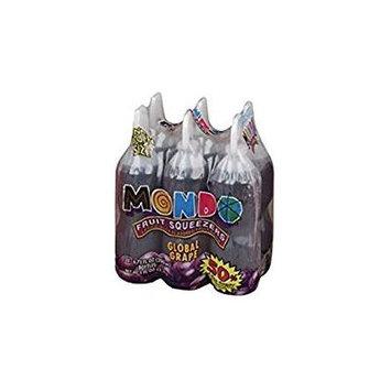 Mondo Global Grape Squeezers No High Fructose Corn Syrup 6.75 Oz. Pk Of 3.