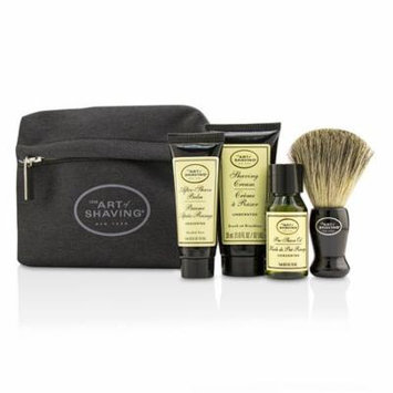 Starter Kit - Unscented: Pre Shave Oil + Shaving Cream + After Shave Balm + Brush + Bag-4pcs + 1 Bag