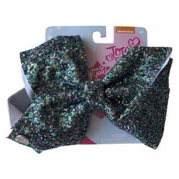 JoJo Siwa Large Cheer Hair Bow (Teal/Pink Sugar Glitter)