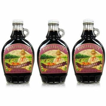 Pioneer Valley Gourmet Elderberry Fancy Syrup 11.5 oz. - 3 pack
