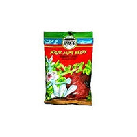 Paskesz Sour Mini Belts Strawberry Flavored 4 Oz. Pack Of 3.
