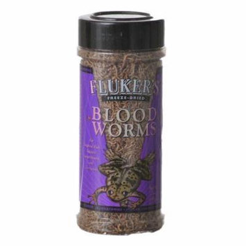 Flukers Freeze Dried Bloodworms 0.7 oz - Pack of 12