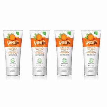 Yes To Carrots Normal To Dry Skin, Moisturizing Hand Cream, 3 Oz (Pack of 4) + FREE Eyebrow Trimmer