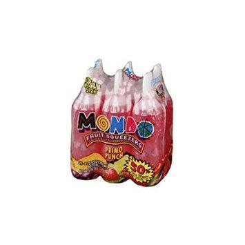 MONDO PRIMO PUNCH FLAVOR DRINK 6 OZ FRUIT SQUEEZER BOTTLES 6 CT