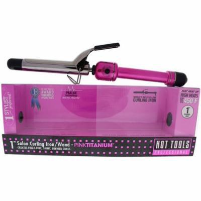 4 Pack - Hot Tools PINKTITANIUM Salon Titanium 1 Inch Curling Iron 1 ea