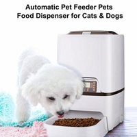 6L 4 Meals Automatic Pet Feeder Pets Food Dispenser for Cats Dogs with LCD Display Voice Recording Timer Programmable Portion Control