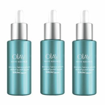 Olay White Radiance Advanced Whitening Intensive Fairness Serum, 40 ml (1.3 Oz) (Pack of 3) + FREE Eyebrow Trimmer