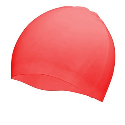 Premium Silicone Swim Cap for Women Men and Kids - 100% Silicone Comfort Strech and Lightweight - Great for Long Hair and Short Hair – Keeps your hair Dry - (Available in 6 Colors)