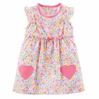 Baby Girl Dress & Diaper Cover, 2pc Set